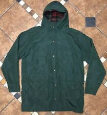 Vintage Woolrich Wool Lined Hooded Raincoat Parka Mens Size XL Made In USA