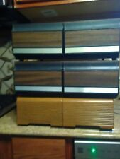 Vintage VHS Tape Wood Box Stackable Storage Containers Cabinets Drawers Lot of 3
