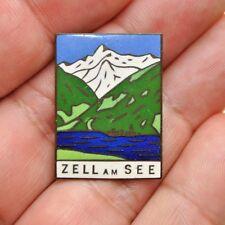 Vintage Zell am See Enamel Pin Kitzbühel Alps Tyrol, Western Austria –Lot 587X