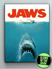 Jaws Shark Glow In The Dark Framed Cool Art Mini Poster