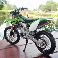 Green Kawasaki KX 450F Racing Moto Diecast Motorcycles 1:12 Scale MAISTO Model