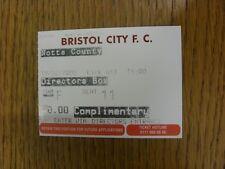 19/02/2000 Ticket: Bristol City v Notts County [Directors Box] . Bobfrankandelvi