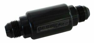 "Aeroflow Filter 40 Micron Black -8AN 1.25"" X 3"" Notes AF66-2053BLK"