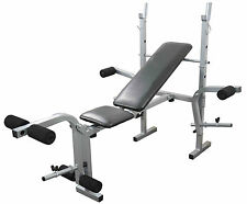 Weight Bench Adjustable Folding Chest & Leg Gym Training Exercise Bench