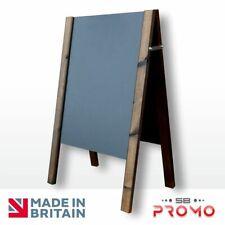 More details for wooden a-board pavement sign blackboard chalkboard a-frame chalk (ecos) (em)
