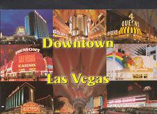 America Postcard - Nevada - Las Vegas - Casino Hotels in Downtown Vegas  7519