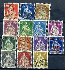 Briefmarke Schweiz vor 1945 Helvetia 1906-1940