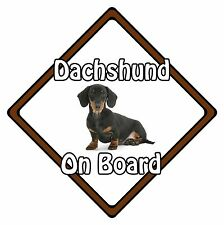 Non Personalised Dog On Board Car Safety Sign - Smooth-Haired Dachshund On Board