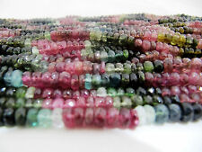 """AAA Quality Natural Multi Tourmaline Beads, Size 5-6mm 14"""" Strand, FREE SHIPPING"""