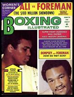 BOXING ILLUSTRATED MAGAZINE JUNE 1974 MUHAMMAD ALI-GEORGE FOREMAN