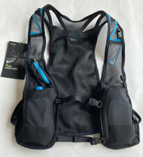 Nwt Nike Kiger Trail Lightweight Running Vest Black Blue Nrla1-018 Size Large