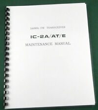 """Icom IC-2A/AT/E Service Manual: w/11""""X24"""" Schematic, Protective Covers"""