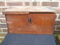 Vintage Industrial Wooden Box Tool Storage Cabinet Chest Trunk Coffee Table