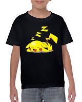 Sleepachu Kids Unisex T-Shirt Pokemon Inspired Tee Go Game Pikachu Top Gym