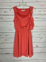 Ya Los Angeles Boutique Women's M Medium Coral Spring Cute Summer Easter Dress