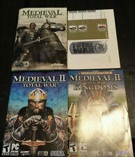 Medieval: Total War Manual & Map(PC, 2002) Total War 2 & Kingdoms Manuals ONLY