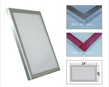 "6 Pack - 20""x24"" Aluminum Frame Screen Printing Screens 110 tpi White Mesh"