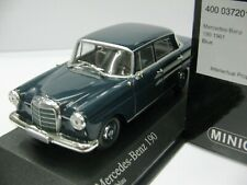 WOW EXTREMELY RARE Mercedes W110 190 1961 Blue 1:43 Minichamps-200,300,450,560