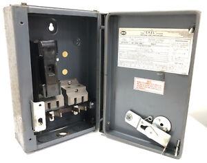 RUSTY* MEM EXEL 30KXS 30Amp Single Pole HRC Fuse Switch Disconnector 415v