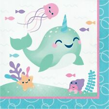 Narwhal Party Napkins, 48 Count
