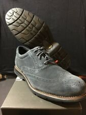 Rockport Total Motion Fusion Wing Tip Shoes-Men's size 10W DK Shadow Suede