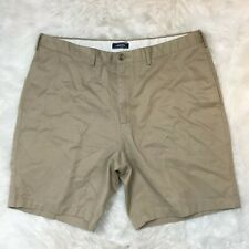 Lands End Men's Traditional Fit Beige Khaki Chino Summer Shorts Size 40