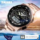 SKMEI 1370 Sport Montre à quartz Pour Homme PU Bracelet 2 Time Montre digitale