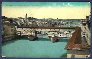 Bridges on the Arno, Florence, Italy - AEF Soldier's Mail 1919