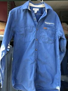 EUC Carhartt Small RG 384-19 Tradesman Workshirt Long Sleeve Button Down Blue