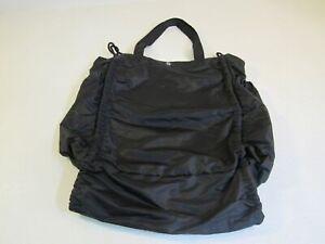 Lululemon Yoga Mat Gym Shoulder Bag Black Hobo Style Bag Nylon