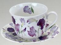Roy Kirkham Jumbotasse Sweet Pea Wicken lila inkl. Untertasse große Tasse