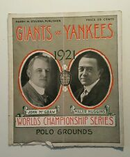 1921 WORLD SERIES PROGRAM YANKEES VS GIANTS - BABE RUTH 1ST YANKS WS APPEARANCE