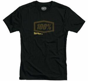 100% Brand Men's Occult T Shirt MX Motocross Moto Black Dri-fit Tee