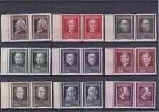Ö 1937 Österreichische Ärzte Paare Seitenrand Postfrisch ** MNH ANK 649 - 657