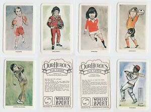 Venorlandus Ltd - Our Heroes, World of Sport (1979) - Type Cards/Odds