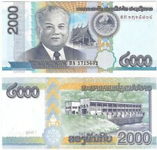 Laos LAO 2000 Kip 2011 UNC Uncirculated banknote P-41 Neuf