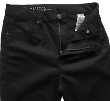 New Marks & Spencer Black High Waisted Skinny Jeans Size 10 Long Leg 29 DEFECT