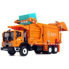 KAIDIWEI 1/43 Scale Diecast Rubbish Garbage Trucks With Bin KDW Models Orange