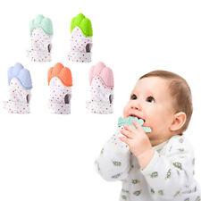 Baby Mitt Teething Mitten Silicone Glove Gum Candy Wrapper Sound Teether Love