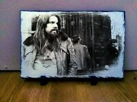 Bob Seger Sketch Art Portrait on Slate 8x6in rare collectable memorabilia