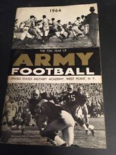1964 NCAA Football Army Yearbook Media Guide