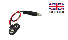PP3 9v Battery Clip/Snap to DC 2.1mm x 5.5mm Jack Plug