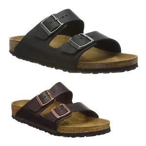 Birkenstock Arizona BS N Waxy Leather Casual Buckles Slides Unisex Sandals