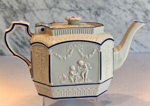 Antique Cupid Lion Castleton Feldspathic Teapot c. 1790-1810