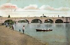 Kingston Bridge Kingston upon Thames London 1908 Original Postcard (RTH)