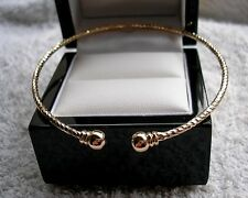 GENUINE SOLID 9CT GOLD TORQUE BANGLE BRACELET GF,SILLY PRICE,OVER 300 SOLD!