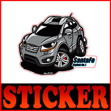 Character Sticker 6p 1set Metallic Color For 2007 2011 Hyundai Santa Fe