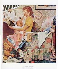 Norman Rockwell Hair Pulling Print The Baby Sitter