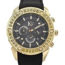 New KC DIAMOND Men's Chronograph Date Watch w/ 3.20 ctw of Clean Diamonds