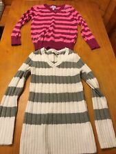 Girls Size M 7/8 Long Sleeved Winter Sweaters by The Children's Place (2 Total)